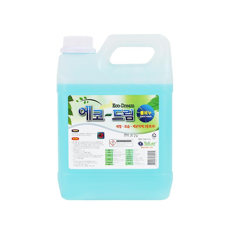 에코-드림(물비누)4리터-손세정제